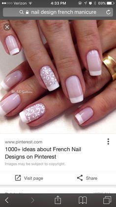 Unhas decoradas francesinha 2 french nail designs, french manicure with design, french tip nail French Manicure Designs, Nail Art Designs, Nail Design, Red Design, Design Art, French Nails, French Manicures, French Polish, French Art