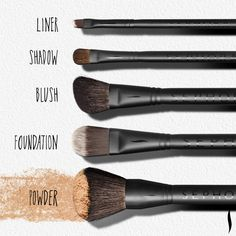 Makeup Brushes 101: Five essential pieces to start your collection. #Sephora #brushingup #mostpopularpins