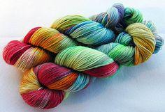 handgefärbte MERINO Sockenwolle 75 Wolle 25 von Piratenwolle