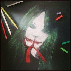 Kuchisake-onna #draw #leggenda #Kuchisake-onna #drawing #draws #pastelli #gessetti #artwork