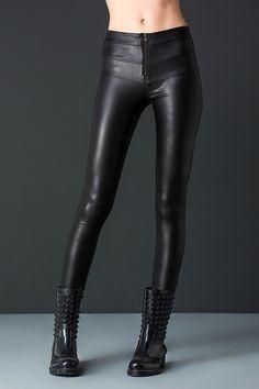 Pencil Leather Pants