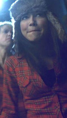 Naya at Glee set