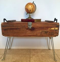 Vintage Military Ammo Crate Coffee Table by TheChippyHummingbird  ~ How awesome is this table !!!!