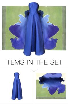 """""""Blue on blue"""" by leaff88 ❤ liked on Polyvore featuring art"""