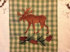 Fabulous moose and pine one towel!