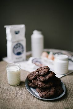 Salted spicy double chocolate cookies