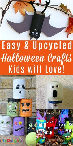 Grab some supplies from your recycling bin and create these fun Halloween crafts! Easy Toddler Crafts, Easy Crafts, Halloween Crafts For Kids, Halloween Fun, Green Craft, Healthy Kids, Zero Waste, Party Planning, Crafting