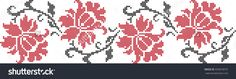 The Vector Embroidered Flowers - 456818575 : Shutterstock