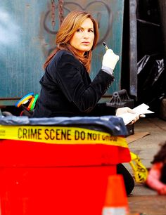 Mariska Hargitay On Set