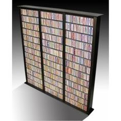 Bookcase Multimedia Tower - Tall Triple- 2262 CDs