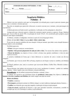 PORTAL ESCOLA: ATIVIDADES 6° ANO PORTUGUÊS LÍNGUA PORTUGUESA EXER...