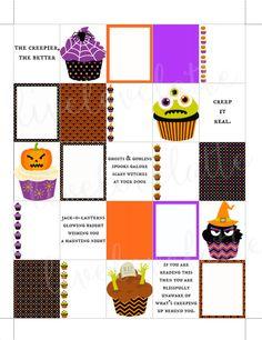 CREEPY HALLOWEEN CUPCAKES Erin Condren (Vertical) Planner Stickers - digital - Instant Download by LiveLoveLatte on Etsy