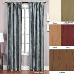 @Overstock - Update your home decor with a luxurious window panelWindow treatment designed with a modern textured jacquard fabric  Curtain features a rod pocket for easy hanging from a decorative rodhttp://www.overstock.com/Home-Garden/Bon-Rod-Pocket-96-inch-Curtain-Panel/3319889/product.html?CID=214117 $39.99
