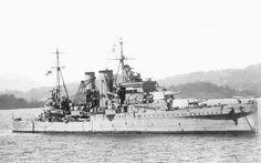 HMS Exeter (68) was a York-class heavy cruiser of the Royal Navy that served in World War II. She was laid down on 1 August 1928 at the Devonport Dockyard, Plymouth, Devon. She was launched on 18 July 1929 and completed on 27 July 1931. She fought against the German pocket battleship Graf Spee at the 1939 Battle of the River Plate, suffering extensive damage that caused a long refit. Having been rebuilt, she was sent to the East Indies where she was sunk by the Japanese in 1942.
