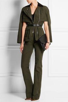 Altuzarra   Alize corduroy-trimmed faille jacket   NET-A-PORTER.COM