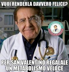 San Valentino, i meme per riderci su - VanityFair. Dr Nowzaradan, Funny Cute, Hilarious, Me Too Meme, Valentino, Funny Memes, Lol, Smile, Feelings
