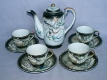 Ten Piece DRAGONWARE Tea set - Porcelain