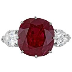 10.33 Carat Ruby Diamond Platinum Ring