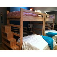 Heavy Duty Solid Wood Loft Bed 1000 Lbs Wt. Capacity