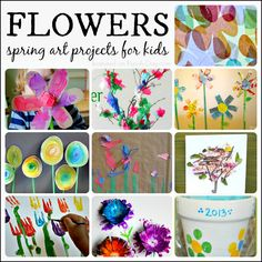 Flower-filled spring art projects for kids