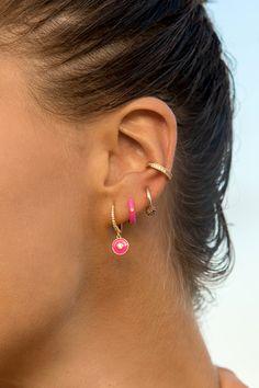 Ear Jewelry, Cute Jewelry, Jewelry Accessories, Jewelry Design, Pretty Ear Piercings, Ear Peircings, Bling, Earrings, Sunshine
