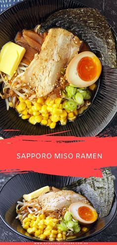 An authentic recipe from Sapporo Japan for ramen with a spicy miso soup. Get this awesome Japanese Miso Ramen recipe. Recipe by Asian Inspirations. Whole30 Soup Recipes, Best Soup Recipes, Ramen Recipes, Fun Easy Recipes, Kitchen Recipes, Asian Recipes, Healthy Recipes, Ethnic Recipes, Noodle Recipes