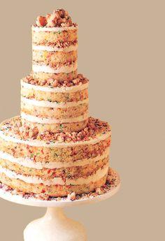 Un-Iced wedding cake
