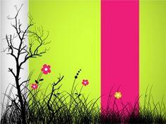 stylish striped floral illustrator vector