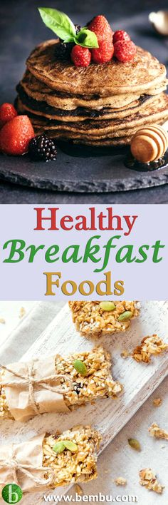 Concerned about your health but unsure about to eat in the morning? Why not try one of these 37 healthy breakfast foods? They're easy to prep. And yummy! Health Tips │ Health Ideas │Healthy Food │Health │Food │Desserts │Low Carb │Favourite Recipes │Gluten Breakfast Food List, Best Breakfast, Healthy Breakfast Recipes, Brunch Recipes, Healthy Snacks, Vegan Recipes, Dessert Recipes, Easy Recipes, Desserts