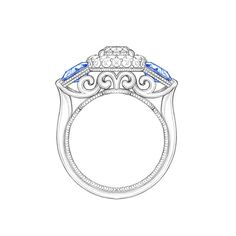 It begins with a sketch... Create your dream ring with us! #armstrongdiamonds…