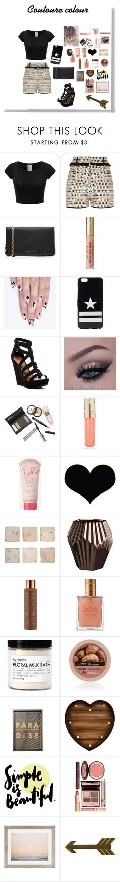 """""""Couture  colour"""" by vain-vanny ❤ liked on Polyvore featuring River Island, Marc Jacobs, alfa.K, Givenchy, Chinese Laundry, Borghese, Smith & Cult, Zoella Beauty, Brika and CB2"""