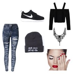 """""""Can't kill my vibe"""" by schlabach-shelly ❤ liked on Polyvore featuring Zara and NIKE"""