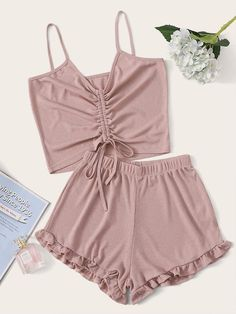 Pajamas For Women Sleepwear Bra Online Shopping Winter Pjs Babydoll Sl – pitayatal Cute Pajama Sets, Cute Pjs, Cute Pajamas, Pj Sets, Cute Sleepwear, Sleepwear Women, Pajamas Women, Cute Lazy Outfits, Summer Outfits