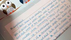Example of penmanship...