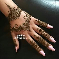 Mehndi Designs To Enhance The Beauty Of Your Hands And Feet . - Mehndi Designs To Enhance The Beauty Of Your Hands And Feet ✨~Minnah~ ✨ - Henna Tattoo Designs, Mehndi Tattoo, Henna Hand Designs, Mehndi Designs For Fingers, Henna Tattoos, Mehndi Fingers, Indian Henna Designs, Arabic Tattoos, Mandala Tattoo