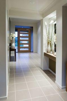 Furnishing ideas Hallway - Nice ideas for a hallway with a table - furnishing ideas corridor flurtisch dekovasen floor tiles - Hallway Decorating, Entryway Decor, Decorating Ideas, Decor Ideas, Style At Home, Door Design, House Design, House Entrance, Entrance Doors