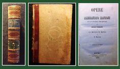LIBRO ALESSANDRO MANZONI 1857 NAPOLI
