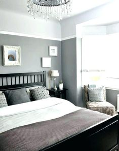 Best Colors for Small Bedroom Best Color for Small Bedroom Dark Colours Bedrooms Paint Dark Gray Bedroom, Grey Bedroom Paint, Best Bedroom Paint Colors, Dark Grey Walls, Grey Bedroom Decor, Room Wall Colors, Bedroom Color Schemes, Bedroom Ideas, Grey Paint