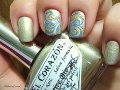 Katarina's book: El Corazon Active Bio Gel №423/38 Prizma или золотые ногти + стемпинг для летнего лакового полумарафона...