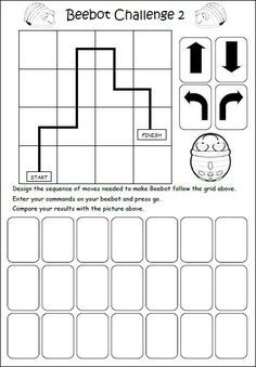 Worksheets – My Beebot Computer Lessons, Computer Coding, Computer Class, Computer Science, Worksheets For Kids, Math Worksheets, Math Activities, Printable Worksheets, Free Printable