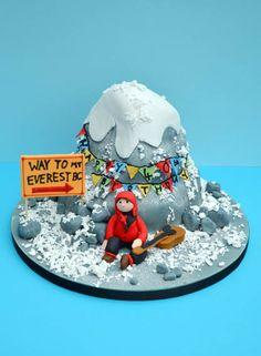 Mount Everest to Base Camp Mountain Climbing Cake - Sugar Rose Cakes