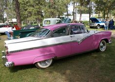 My Parents had a car like this only it was coral.  My mom drove it on a road that was freshly oiled and my dad had a fit!  ☺️