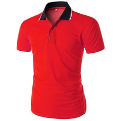 Mens Slim Fit Line Pointed Collar T-Shirt (CMTTS033)