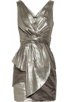 Metallic Linen-blend dress by AllDressedUp