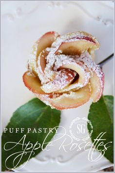 PUFF PASTRY APPLE ROSETTES - StoneGable