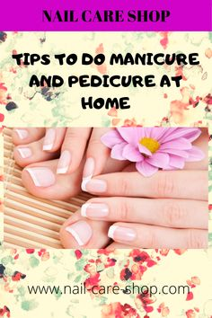 Here a very easy and effective way in which you can do both manicure and pedicure at home all by yourself. Pedicure At Home, Manicure And Pedicure, Nail Care Tips, Makeup Tips, Personal Care, Nails, Easy, Shop, Accessories