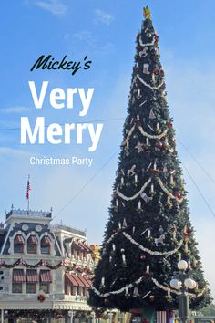 Mickey's Very Merry Christmas Party is a special event held on select nights in November and December with special shows and fireworks.