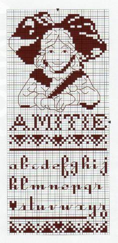 épinglé par ❃❀Catherine Aeschlimann ❁✿à partir de gallery.ru. Isabelle Haccourt Cross Stitch Bookmarks, Cross Stitch Alphabet, Cross Stitching, Cross Stitch Embroidery, Stitch 2, Chrochet, Monochrome, Needlework, Diagram