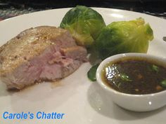 Carole's Chatter: Tuna Marinated in soy sauce, garlic and ginger