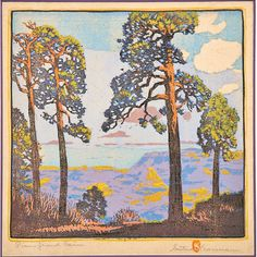 GUSTAVE BAUMANN, Pines, Grand Cañon, 1920